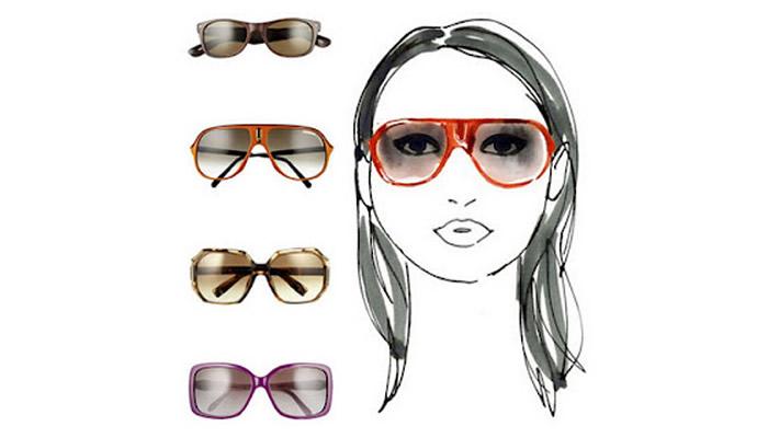 Солнцезащитные очки на круглое лицо женские