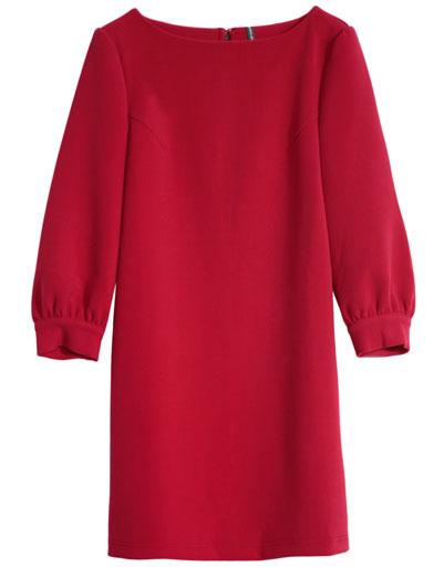 Более традиционный вариант платья-балахона можно найти в коллекции Naf Naf  сезона осень-зима 2013. Оно больше напоминает наряд в духе легендарной  Твигги. ... b5839ece2fa
