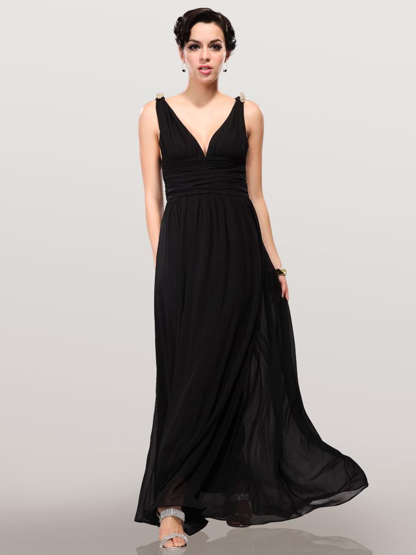 Греческое черное платье