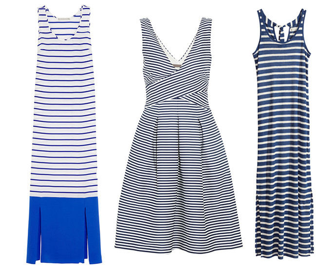 Платья в полоску в морском стиле