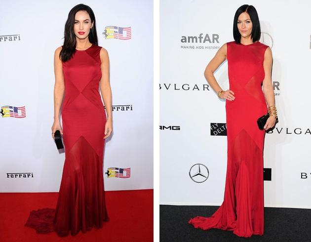 Платье от версаче красное