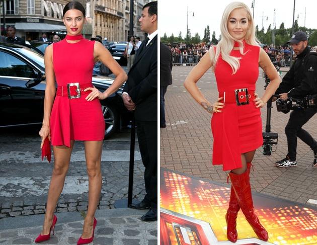 Красные платья versace