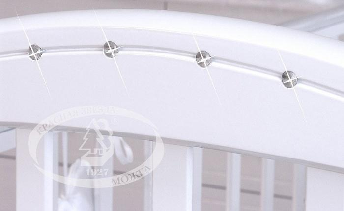 кроватка Регина C-602 (с кристаллами Сваровски) (Можга\Красная звезда)