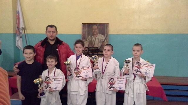 Мы победили на открытом областном турнире по кёкусинкай карате г Новочеркасск 2013
