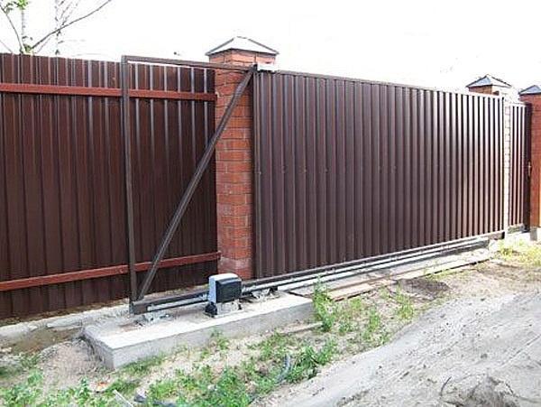 Привод откатных ворот