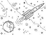 День космонавтики, раскраска