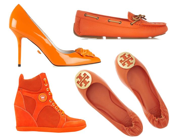 плавно оранжевые туфли с чем носить фото свою