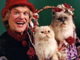 Юрий Куклачев и его кошки