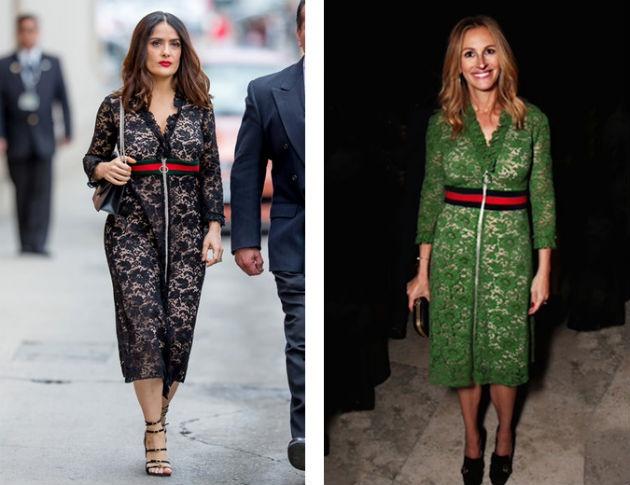 Противоречивое платье от Gucci - кому идет больше?