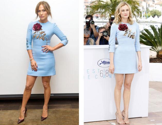 Платье с цветком от Dolce&Gabbana - кому идет больше?