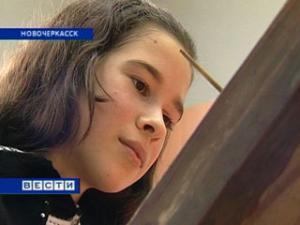 В Новочеркасске фасад художественной школы украсили детскими работами