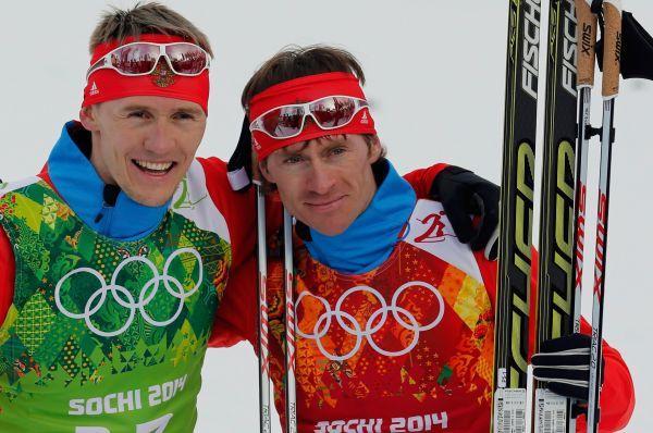 Лыжники Никита Крюков и Максим Вылегжанин - серебряная медаль.