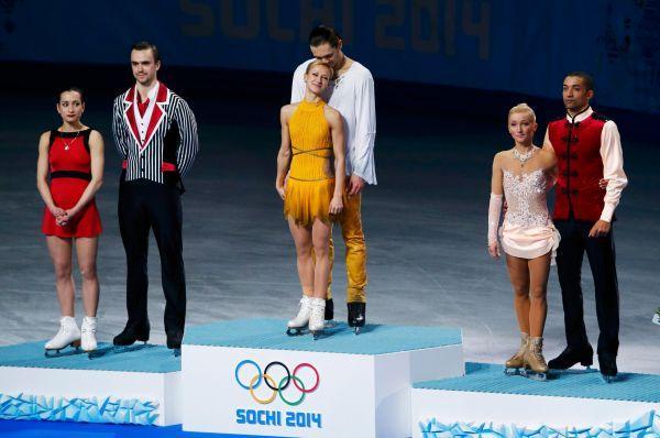 Фигуристы Татьяна Волосожар и Максим Траньков выиграли «золото», Ксения Столбова и Фёдор Климов заняли второе место.