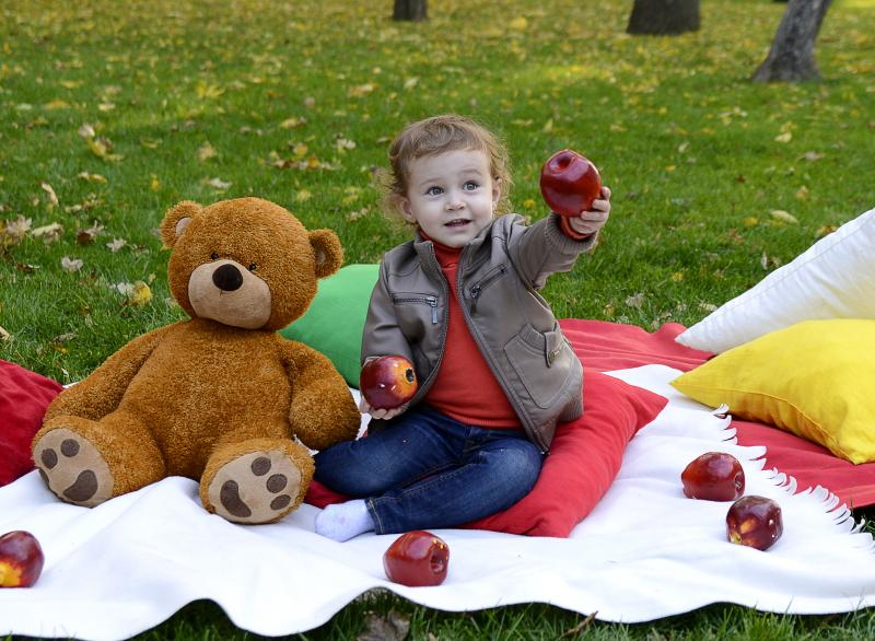 Пикник в теплый осенний денек
