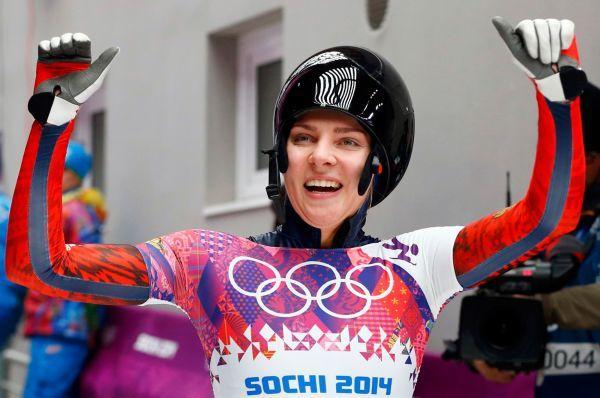 Скелетонистка Елена Никитина завоевала бронзовую медаль.