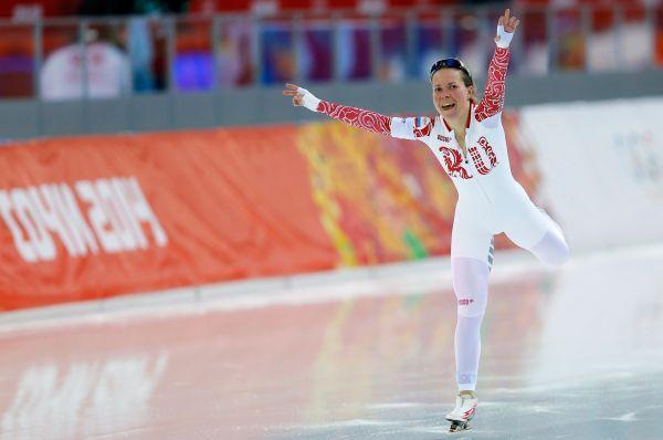 Конькобежка Ольга Граф. 2 бронзовых медали.