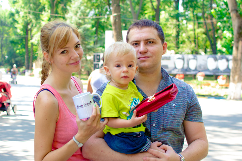 Оля Нахалова с семьей Фото:Галина Терновая