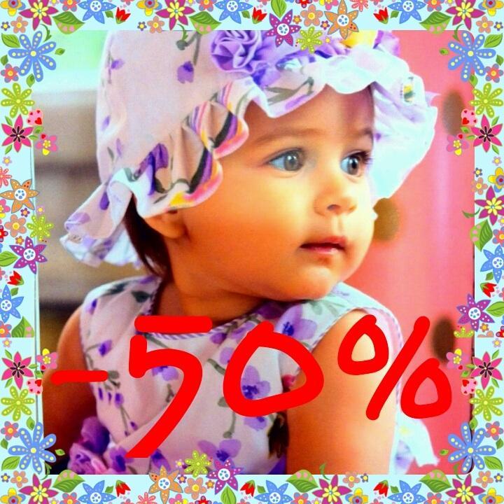 1 июня - День защиты детей! С 29.05 по 1.06 дарим скидку 50% на все брендовые коллекции! Будем рады видеть Вас!