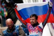 Скелетонист Александр Третьяков - олимпийский чемпион.
